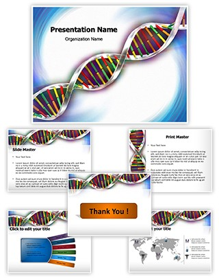 Helix Dna Strand Editable PowerPoint Template