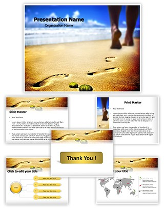 Foot Step Editable PowerPoint Template