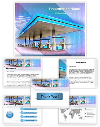 Gasoline Station Editable PowerPoint Template