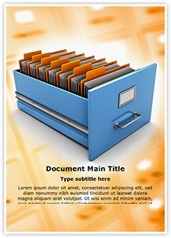Data Management Editable Word Template