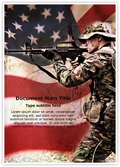 American Soldier Editable Word Template
