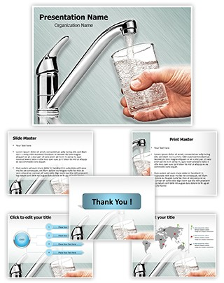 Drinking Water Editable PowerPoint Template