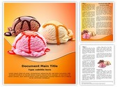 Ice Cream Scoops Editable Word Template