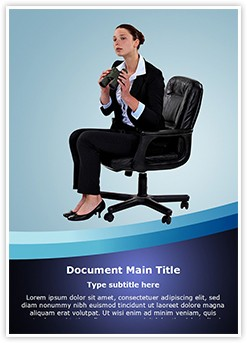 Businesswoman Looking Future Editable Word Template