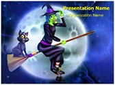 Sorceress Witchcraft Editable PowerPoint Template
