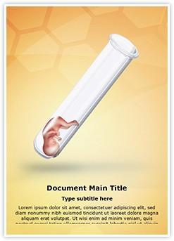 Test Tube Baby Editable Word Template