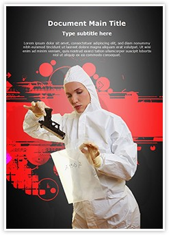 Forensic scientist Editable Word Template
