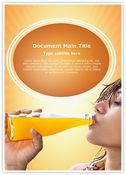 Drinking Fresh Juice Editable Word Template