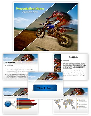 Off-Road Rider Editable PowerPoint Template