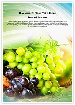 Grapes Editable Word Template