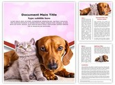 kitten and dog Editable Word Template