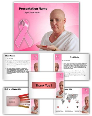 Cancer Pills Editable PowerPoint Template