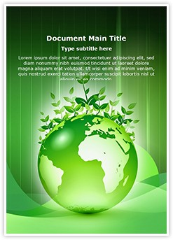 Green Earth Editable Word Template