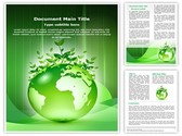 Green Earth Editable Word Template