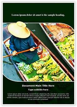 Floating Market Editable Word Template