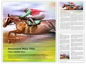 Horse Race Editable Word Template