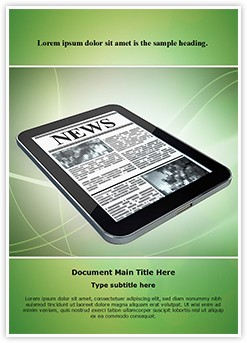 Enews Editable Word Template
