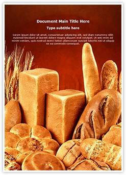 Breads Editable Word Template