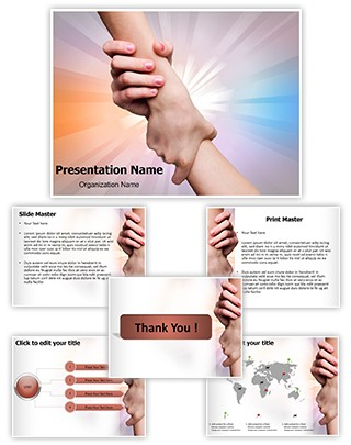 Helping Hands Editable PowerPoint Template