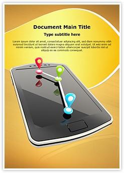 Mobile GPS Navigation Editable Word Template