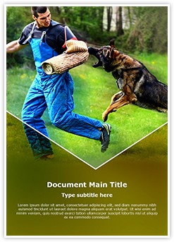 German Shepherd K9 Training Editable Word Template