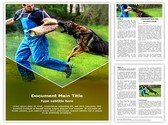 German Shepherd K9 Training Template