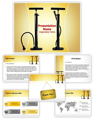 Bicycle Air Pump Editable PowerPoint Template