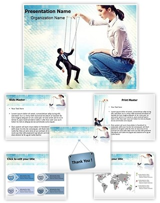 Businesswoman Leadership Editable PowerPoint Template