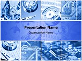 Machinery Collage Editable PowerPoint Template