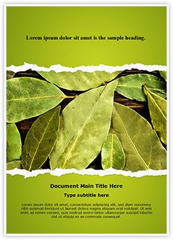 Bay Leaves Editable Word Template