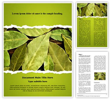 Bay Leaves Editable Word Document Template