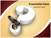 3D question mark key Template