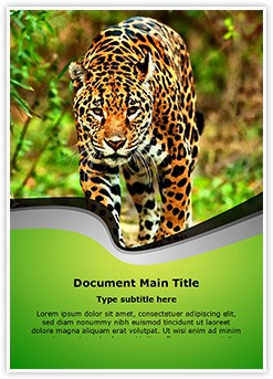 Jaguar Editable Word Template