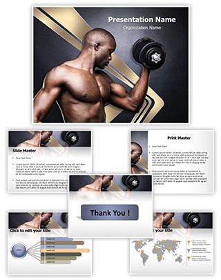 Fit Young Man Editable PowerPoint Template