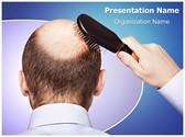 Bald Human Alopecia Editable PowerPoint Template