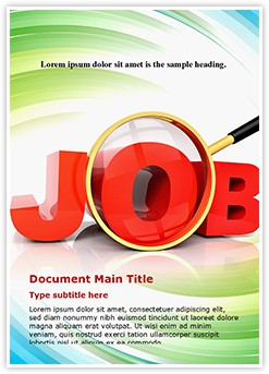 Jobs word Editable Word Template