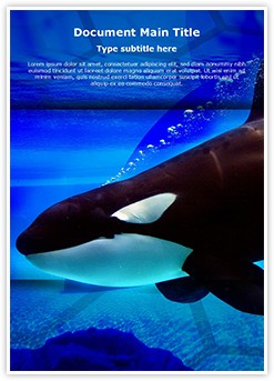 Killer Whale Editable Word Template
