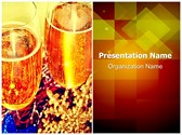 Celebration Champagne Toast Editable PowerPoint Template
