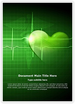 Heart beat Editable Word Template