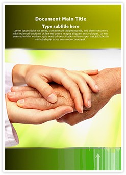 Caring Helping Hands Editable Word Template