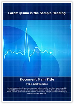 Electrocardiogram Editable Word Template