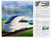Bullet Train Editable Word Template