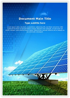 Solar Panel Editable Word Template