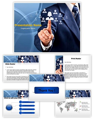 Human Resources Officer Editable PowerPoint Template