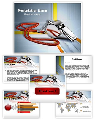 Metal Whistle Editable PowerPoint Template