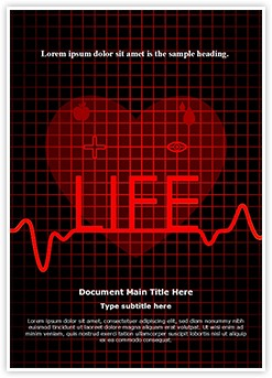 Medical Cardiogram Abstract Editable Word Template