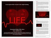 Medical Cardiogram Abstract Template