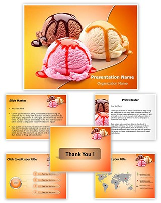 Ice Cream Scoops Editable PowerPoint Template