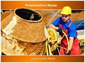 Concrete Cement Mixer Editable PowerPoint Template