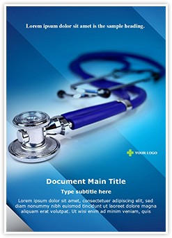 Medical stethoscope Editable Word Template